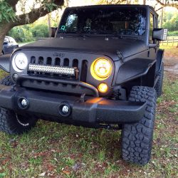 Jeep with LINE-X protective coating