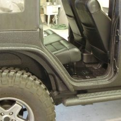 Jeep covered with LINE-X coating