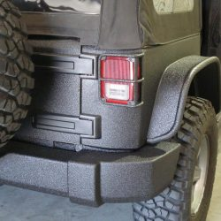 back of Jeep with LINE-X protection