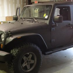 Jeep protected by LINE-X coating