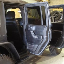 Jeep protected with LINE-X protective coating