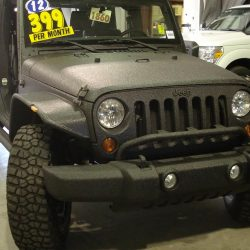 Front of Jeep with LINE-X coating