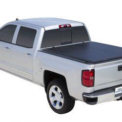 tonneau cover on silver truck