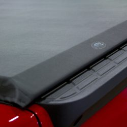 soft tonneau cover installed on a truck