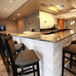 Detail of Marble Countertop in Renovated Bar - Sage Construction