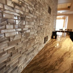 Detail of Wall Tiles & Marble Countertop Installation - Sage Construction
