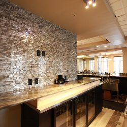 Renovated Bar With Wall Tiling & Granite Countertops - Sage Construction
