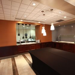 Renovated Cafeteria With Custom Wood Finishing - Sage Construction