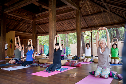 You will love the temple-like facilities at our luxury yoga retreat.