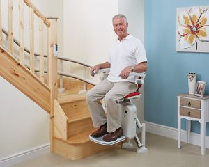 Optional Turn & Go feature stair lift