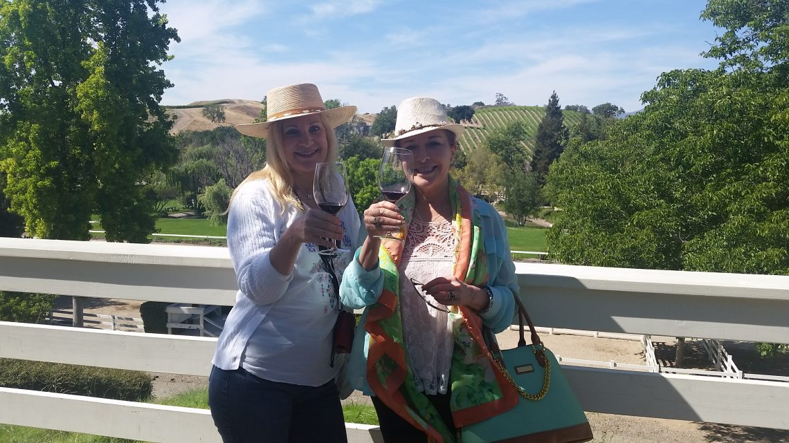 Some customers of Silk Road Transportation on their wine tour!