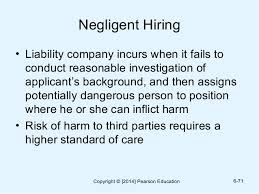 negligent hiring and retention