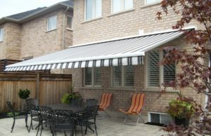 Image of retractable awning expanded