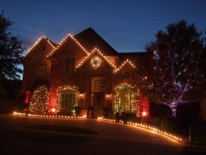 Image of a house with Christmas Lights