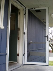 Image of an open screen door