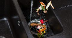 Image Of Food Entering A Garbage Disposal