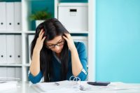 Woman Stressed Out From Cramming