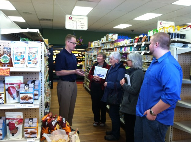 Dr Kramer shares his favorite gluten free items with guests at Naturally Yours Grocery Store's Coffee Talks.