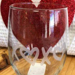 Personalized Laser Etched Glassware