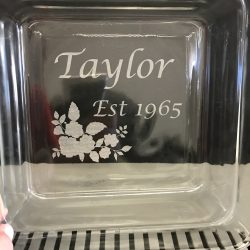 Glass Engraving at Shirt Shack