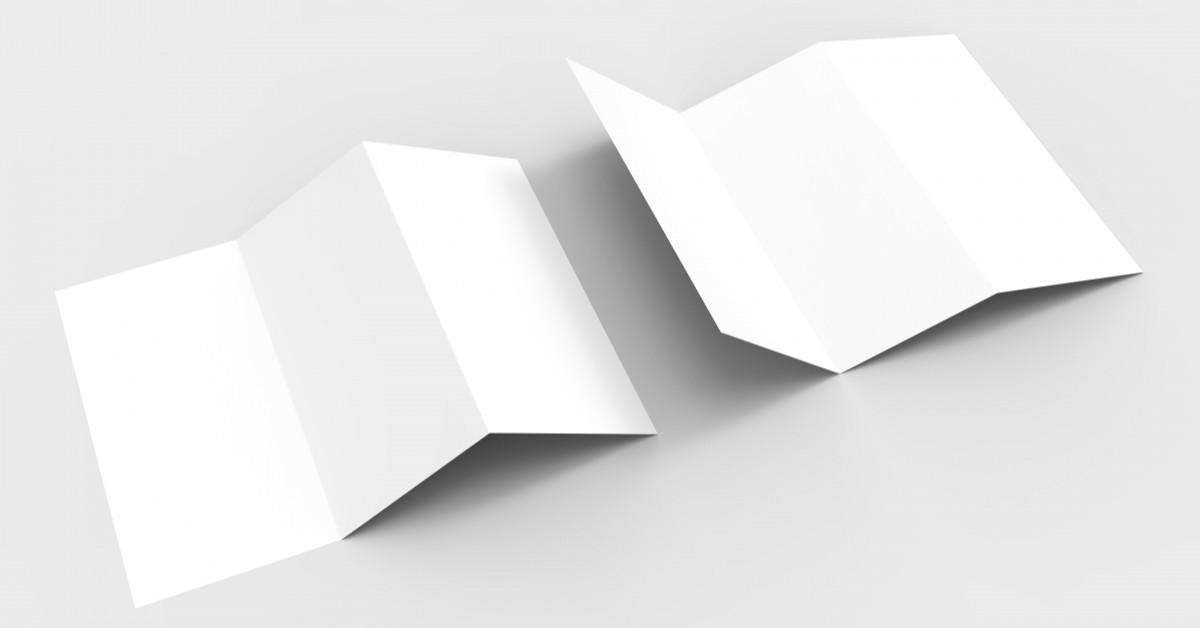 Blank flyers