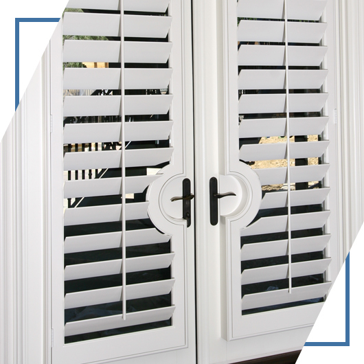 An image of some plantation-style shutters from Shutters And More.