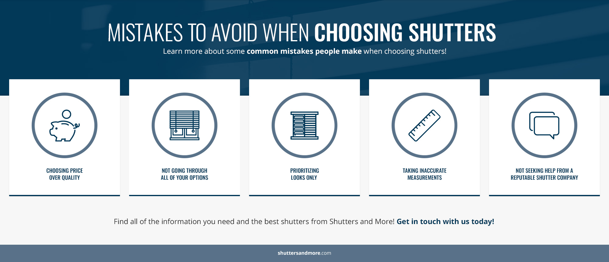 Mistakes to Avoid When Choosing Shutters - Infographic