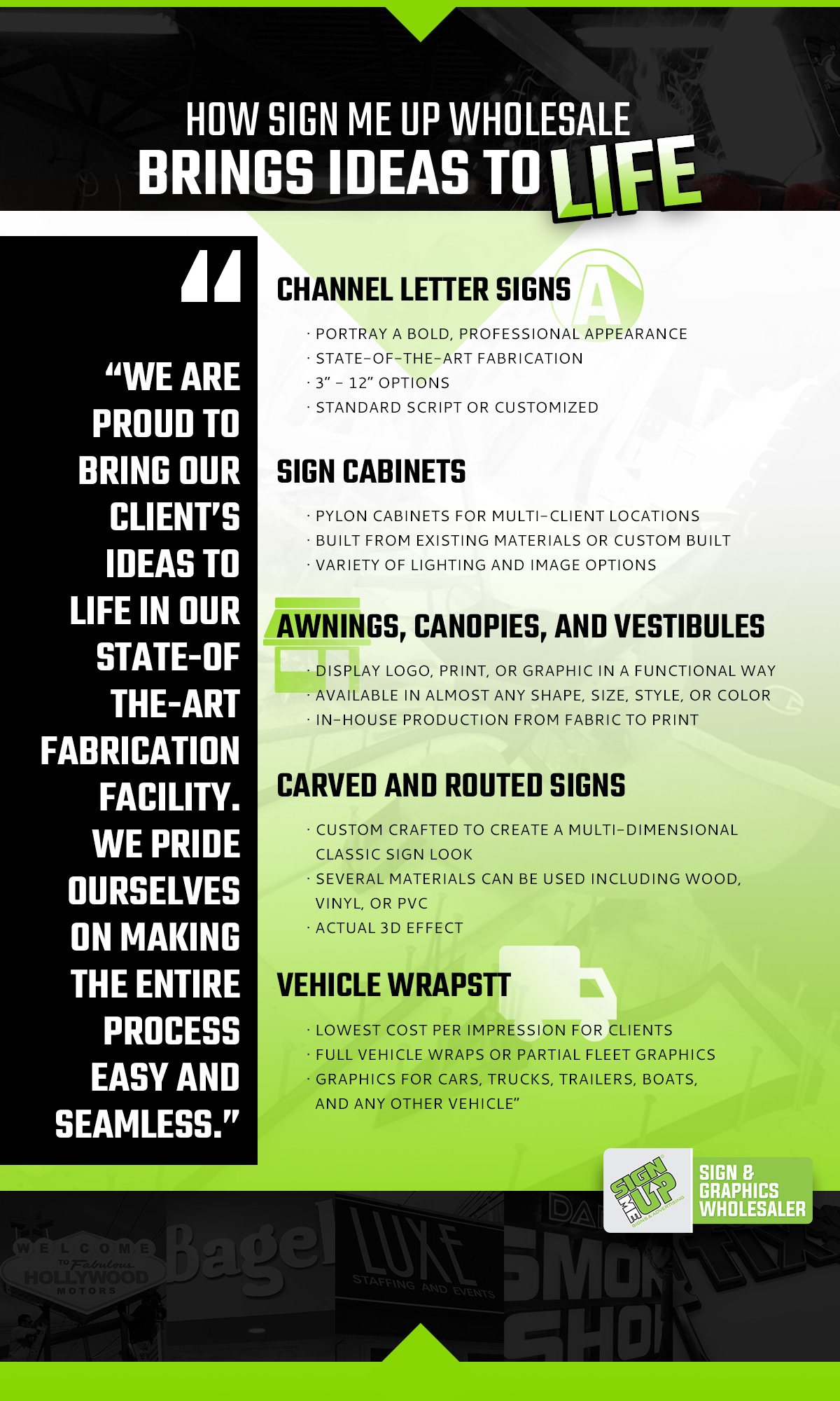 Sign Me Up Wholesale - Sign Fabrication and Production