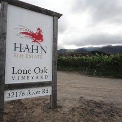 Custom business sign for Lone Oak Vineyard