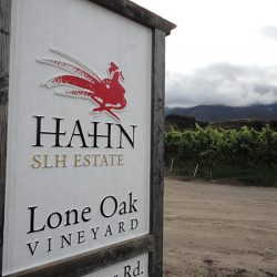 Custom vineyard sign for Hahn Estates Lone Oak Vineyard