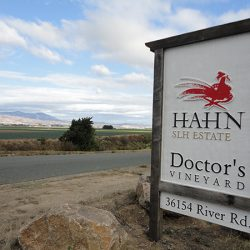 Custom sign built for Hahn Estates Doctor's Vineyard