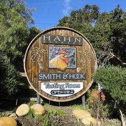 Check out this unique business sign for Hahn Estates