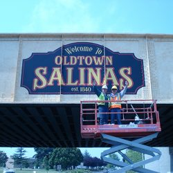 The custom mural for Oldtown Salinas