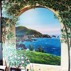 A beautiful custom wall mural of the ocean