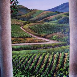 Farm land in our custom wall mural