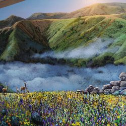 Gorgeous valley landscape for our custom wall mural