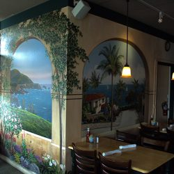 Beach landscapes on our client's custom wall murals