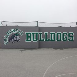 Check out this custom wall mural for the Chartwell Bulldogs