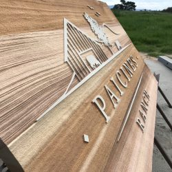Paicines Ranch Sign in Production