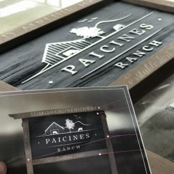 Paicines Ranch Custom Sign