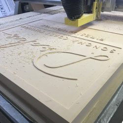 Laser cutting of custom sign