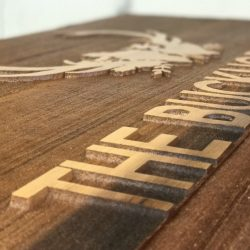 Image of custom wooden sign