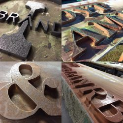 Process of metal signage