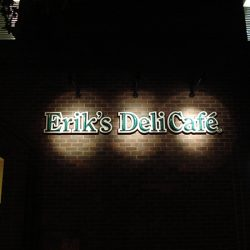 Beautifully displayed custom sign for Erik's Deli Cafe