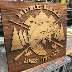 Custom wood signage for Hume Lake