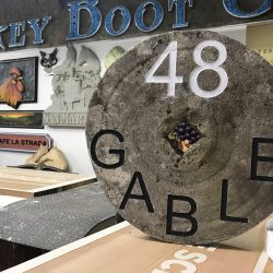 Making of custom wood signage in Monterey County