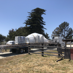 Delivery of new equipment at our Monterey County sign company