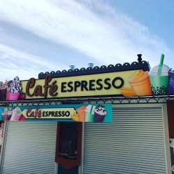 Custom business signage for Cafe Espresso