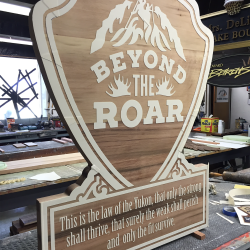 Custom wood sign for Beyond the Roar