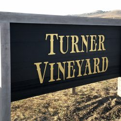 Custom vineyard signage for Turner Vineyard